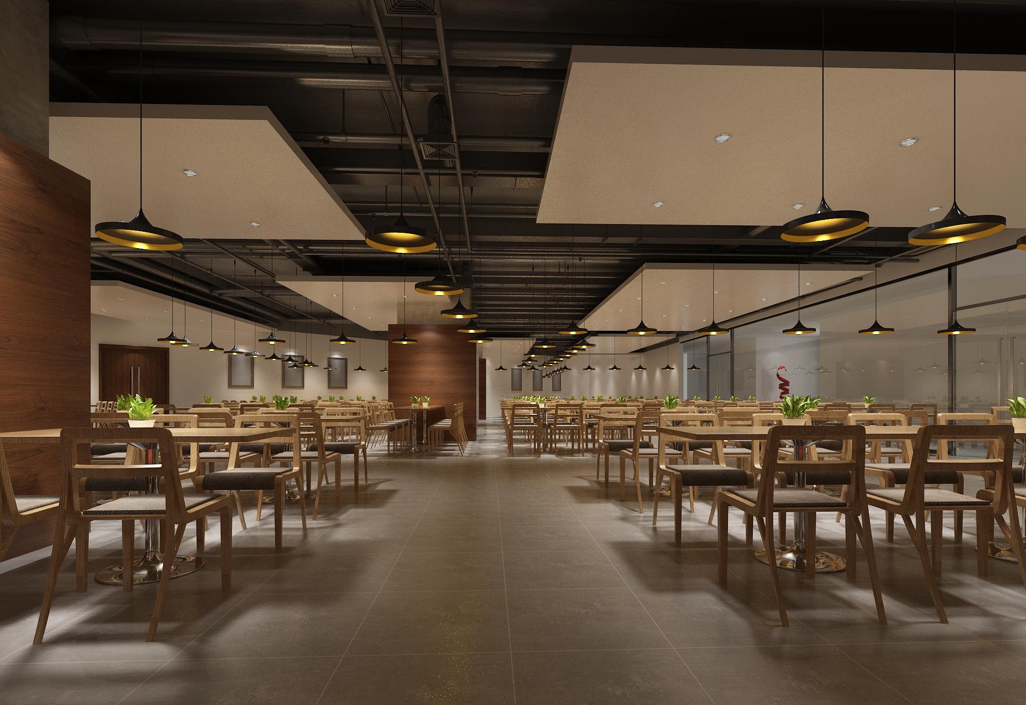 装修设计效果图施工图餐饮空间门头设计主题餐厅火锅店料理店制作